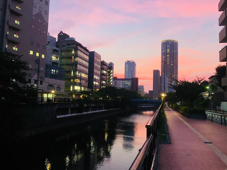 目黒川のランニングコース