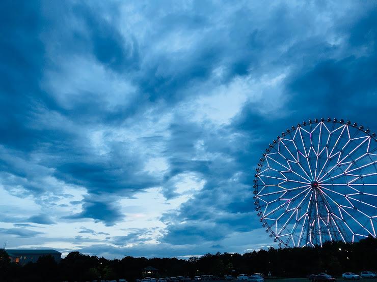a giant wheel at kasai rinkai park