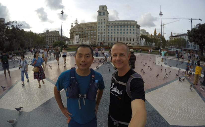 "About sightseeing running tour ""BARCELONA NIGHT"" in Spain"