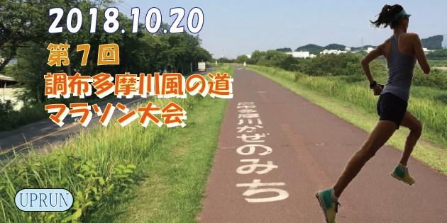 The 7th UP RUN Chofu Tama river kaze-no-michi marathon