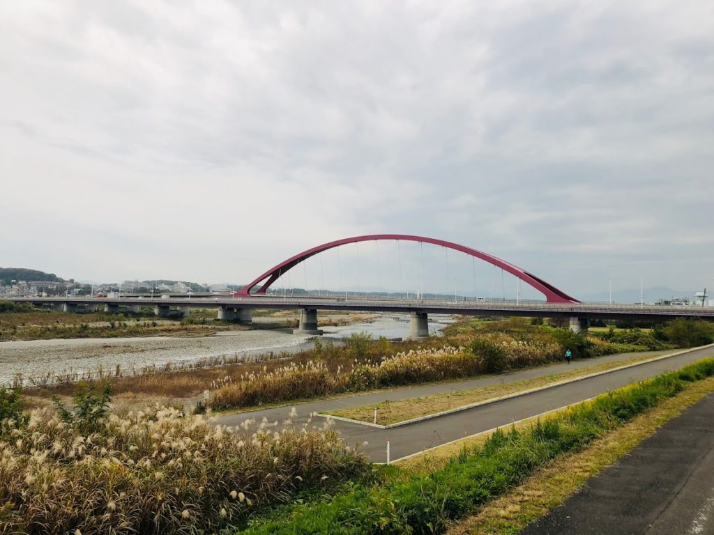 Running course along Tama River