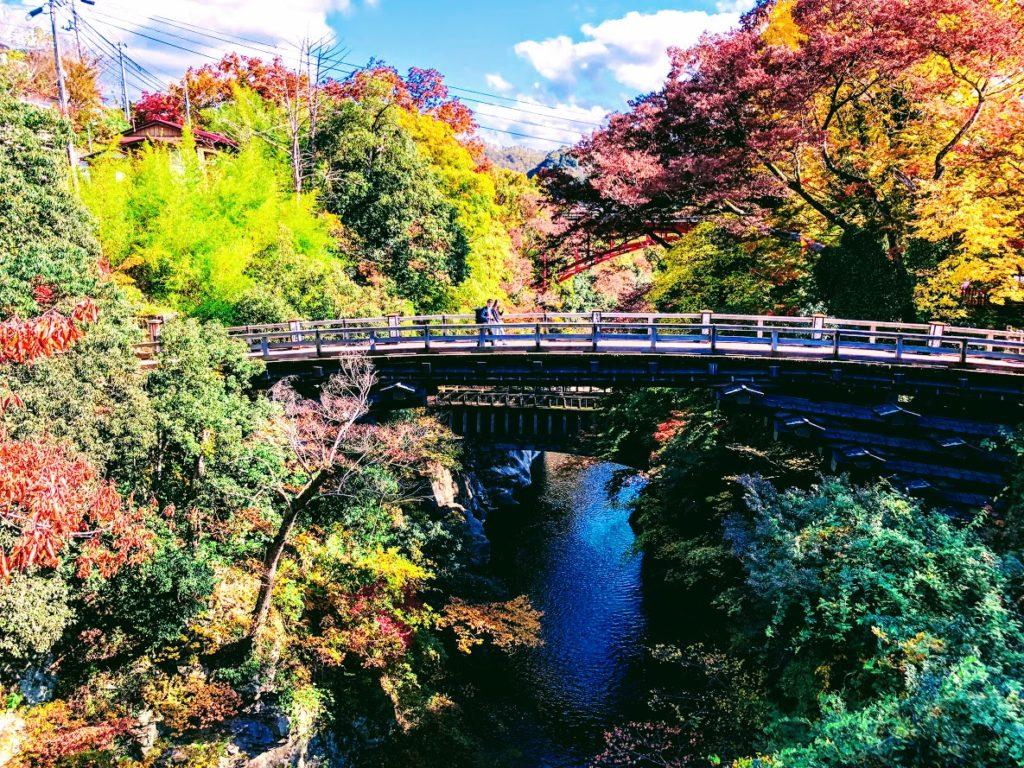 At Saruhashi bridge you can see several beautiful bridges built for each era.