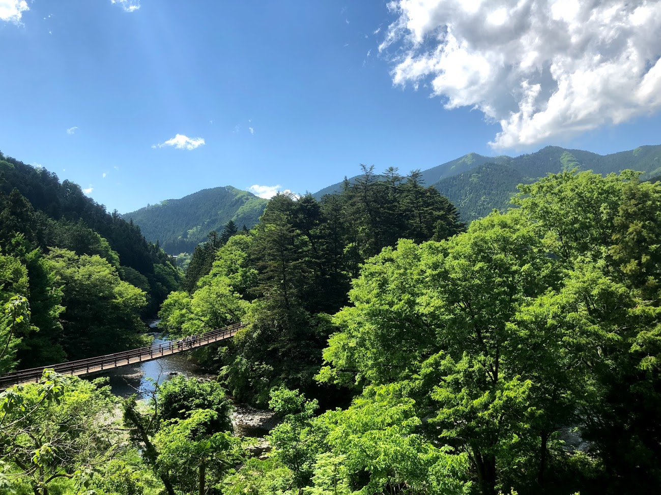In Tokyo it is like a beautiful valley like Switzerland.