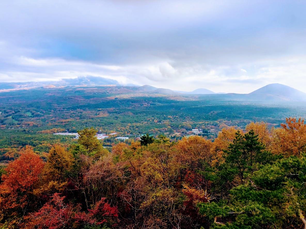 If weather is good from Kōyōdai (Koyodai, Kodai-dai) you can see magnificent Mt. Fuji.